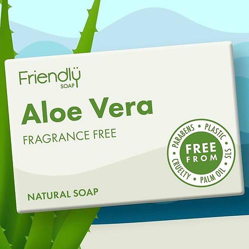 Friendly Fragrance Free Aloe Vera Baby Soap
