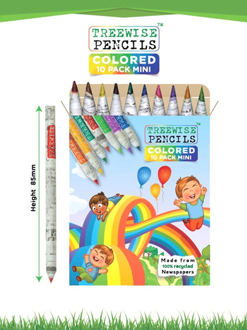 Treewise  Recycled Paper Newspaper Mini Colouring Pencils