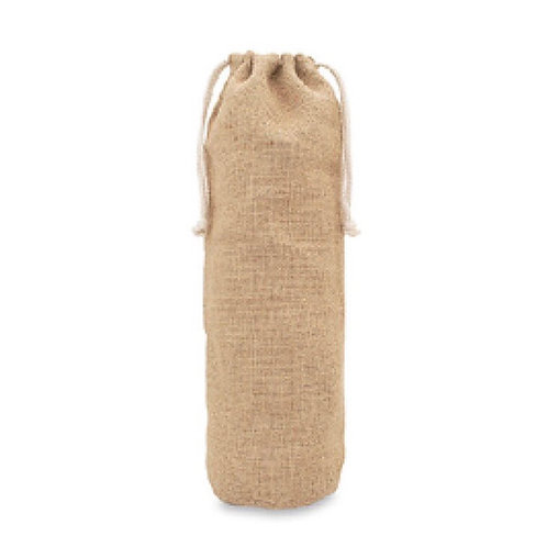 Reusable Natural Jute & Cotton Bottle Gift Bag
