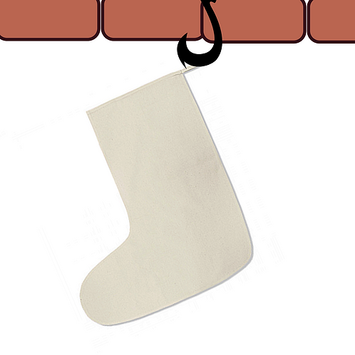 Large Natural Cotton Stocking