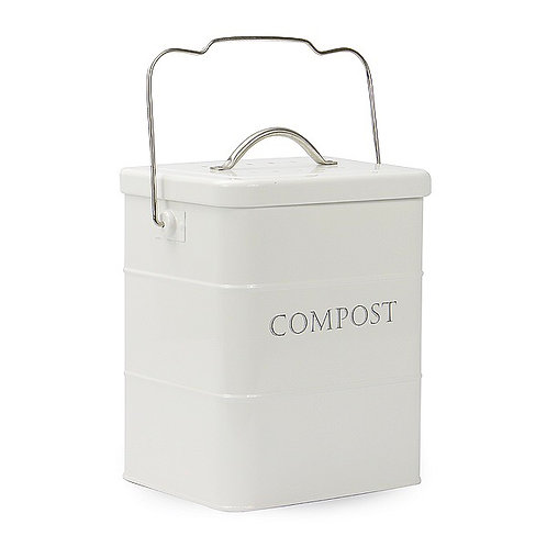 3.5L Metal Kitchen Compost Bin + Carbon Filter