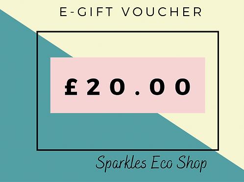 £20.00 E - Gift Voucher (No Expiry Date)
