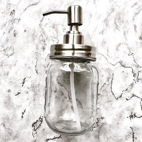 Glass Mason Jar Soap Dispenser (500ml)