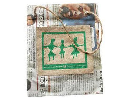 Fair Trade Recycled Newspaper Gift Bag