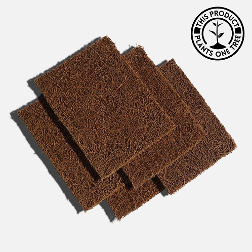 Plastic Free Compostable Coconut Dish Scourers (Pack of 5)