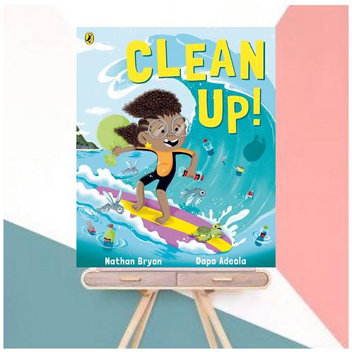 Clean Up! Nathan Bryon  Dapo Adeola (Illustrator) Paperback