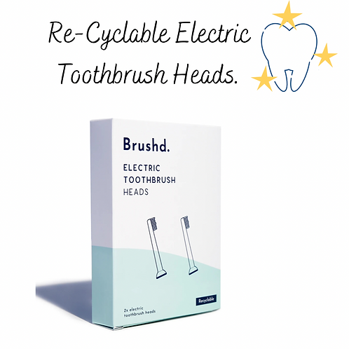 Brushd. Recyclable Toothbrush Heads - Oral B Compatible (Pack of 2)