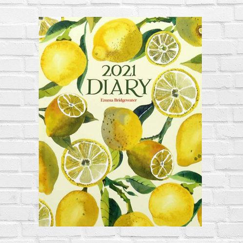 Vegetable Garden Lemons 2021 A5 Hardback Diary