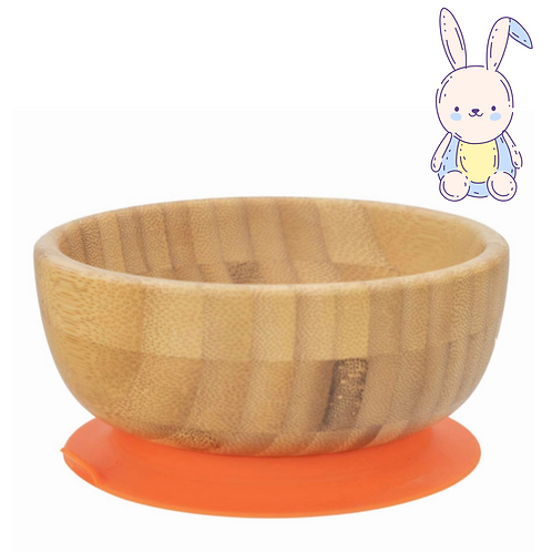 Bamboo Bowl with Silicone Suction Pad