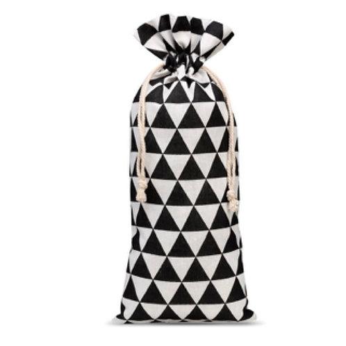 Monochrome Geometric Linen Gift Bag