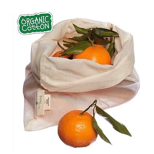 Organic Cotton Fruit & Veg or Bread Bag