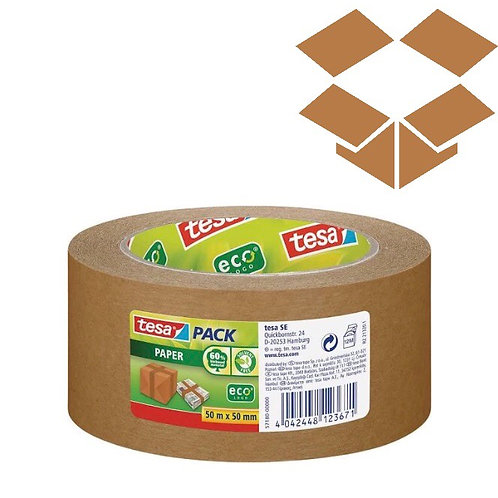 Tesa Eco Friendly Paper Packing Tape (50mm x 50m)
