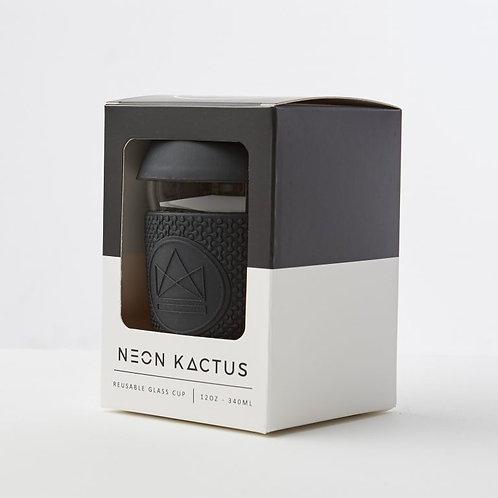 Neon Kactus Barista Glass Cup - (12oz 340ml)