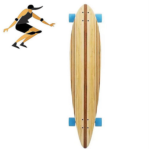 Bamboo Longboard Skateboard 44in (Fully Assembled)