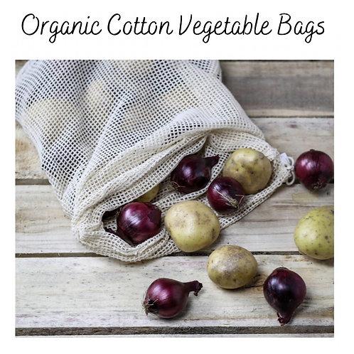 Organic Cotton Mesh Fruit & Vegetable Bags (Set of 6)