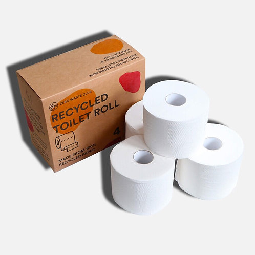Recycled Toilet Paper - (3 Ply)  - 4 x Rolls