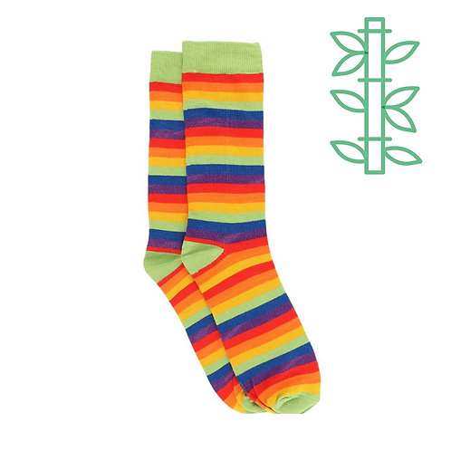 Fair Trade Bamboo Rainbow Socks (1 Pair)