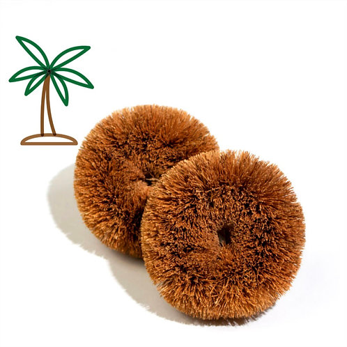 Natural Coconut Scourers (Pack of 2)