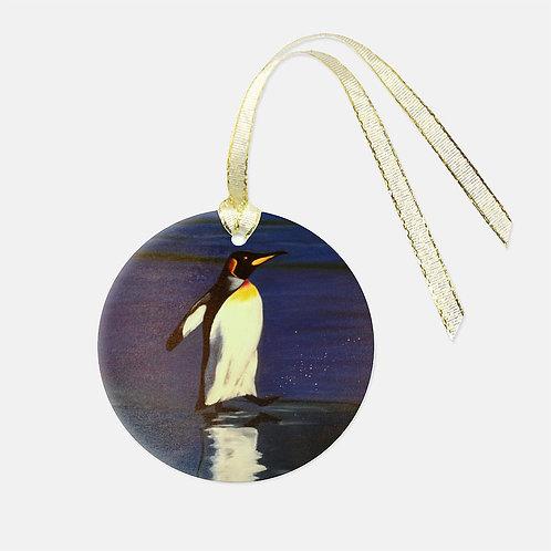 Penguin Glass Ornament