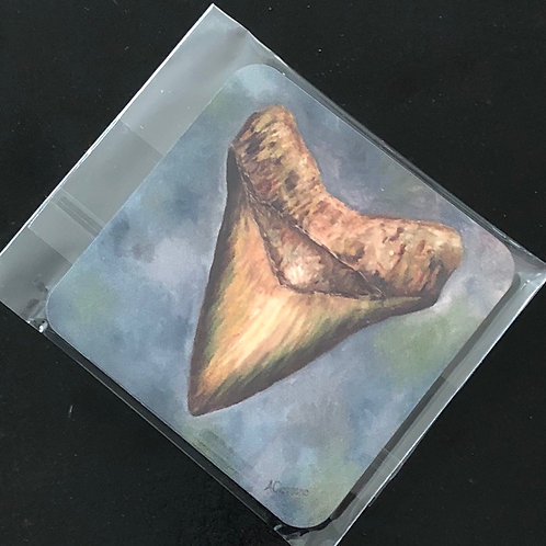 Megalodon Shark Tooth Coasters
