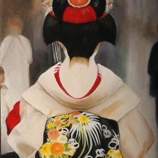 Gray Geisha By Marcia Sangillo