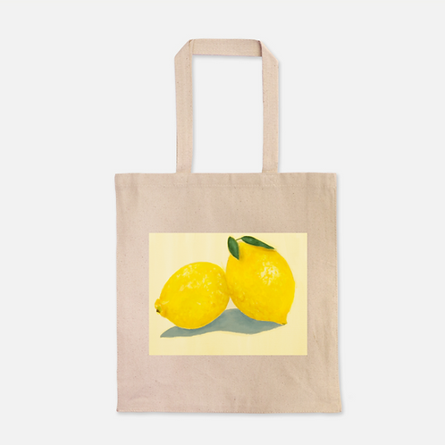 Lemons Heavy Duty Canvas Shopping Tote