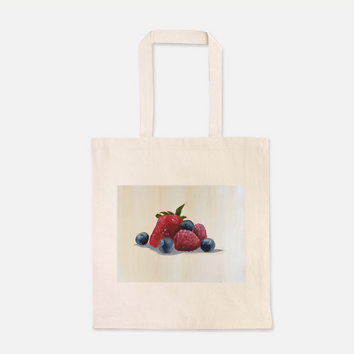 Berries Heavy Duty Canvas Shopping Tote