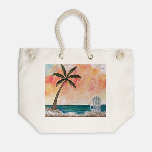 Palm Tree Beach Tote