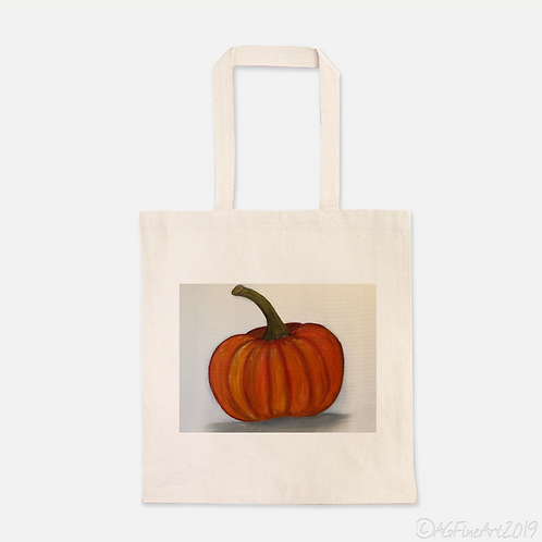 Pumpkin Heavy Duty Canvas Shopping Tote