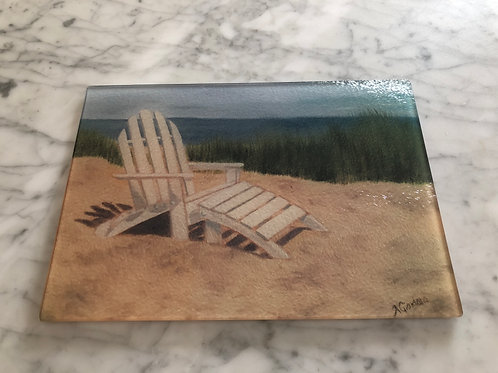 Beach Chair Large Glass Cutting Board