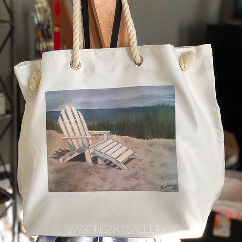 Beach Chair Beach Tote Bag