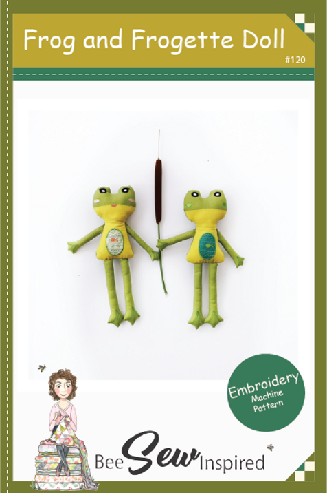 Frog and Frogette Doll - Embroidery Machine Pattern