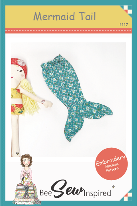 Mermaid Tail Removable - Embroidery Machine Pattern