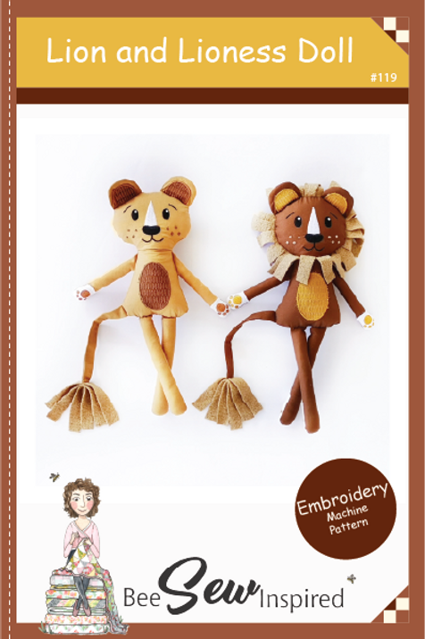 Lion and Lioness - Embroidery Machine Pattern