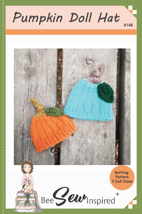 Pumpkin Doll Hat - Knitting Pattern