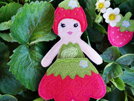 Strawberry Felt Doll