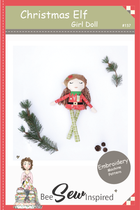 Christmas Elf Girl - Embroidery Machine Pattern