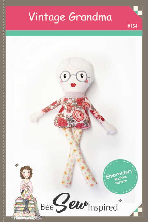Vintage Grandma Doll - Embroidery Machine Pattern