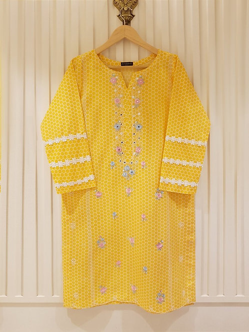 AGHA NOOR EMBROIDERED LAWN KURTI