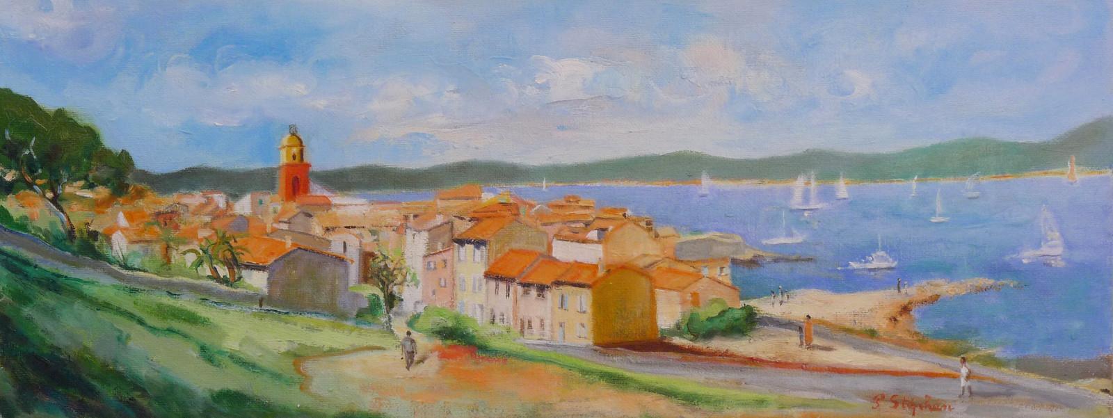 Artiste Peintre St Tropez saint-tropez vue de la citadelle
