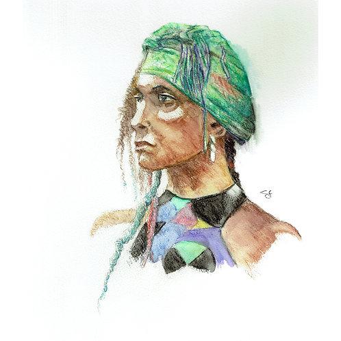 chante portrait - original art