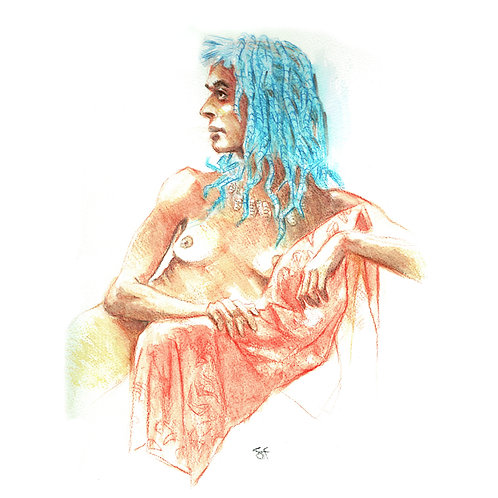 chante braids - original art