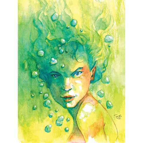lava watercolor - print