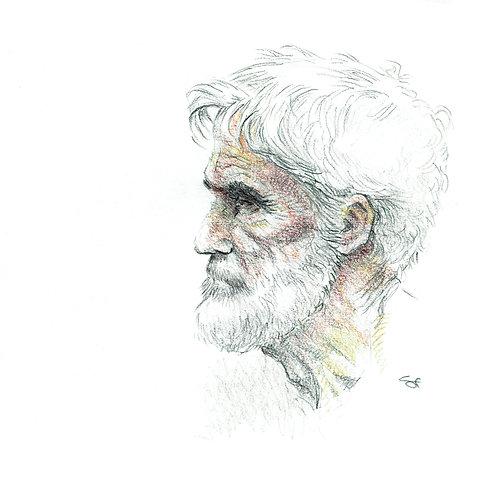clay portrait - original art