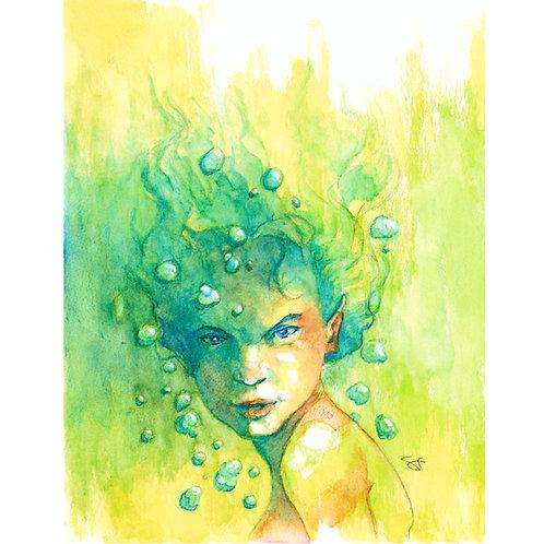 lava watercolor - original painting
