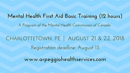 Mental Health First Aid Basic Training @ Charlottetown Inn & Conference Centre | Charlottetown | Prince Edward Island | Canada