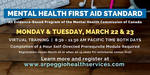 Mental Health First Aid Standard - Virtual Training