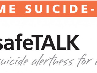 safeTALK, a half-day Suicide Alertness training workshop, now available in the Maritimes!