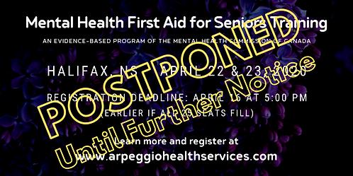 Mental Health First Aid Training: SENIORS - Halifax, NS