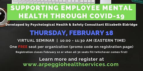 Supporting Employee Mental Health Through COVID-19 - Virtual Seminar